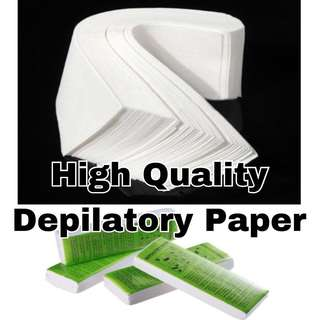High Quality Depilatory Paper (10 sheets for $1.50)