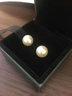 Huge pearl earrings shell