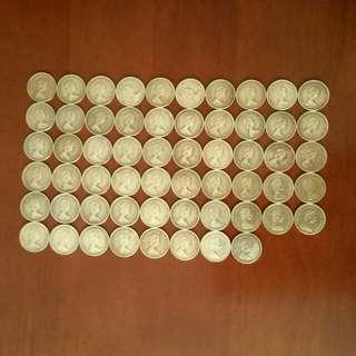 香港:硬幣 全部 女皇頭:5毫🖐1979年:8個👉78年:15個👉77年:11個👉80年:24個🖐共58個