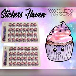 PLANNER STICKERS (Cupcake) - F001