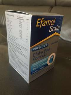 Efamol (Efalex Brain Formula) DHA-rich fish oil supplements(240 capsules)