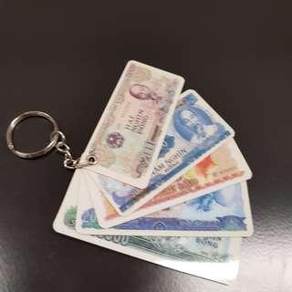 Key Chain in Card Money Design
