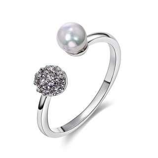 時尚珍珠鋯石戒指(Fashion Finger Ring)