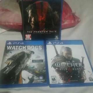 The witcher 3, watch dogs, metal gear 5
