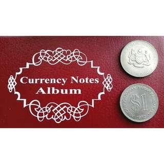 1972 Penganugerahan Taraf Bandaraya KL 1 Ringgit Coin & 1977 Syiling Peringatan 20 Tahun Merdeka