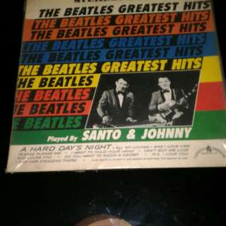 The Beatles Greatest Hits Played By Santo & Johnny Vinyl
