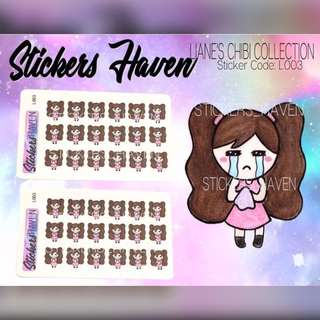 PLANNER STICKERS (Crying) Lianne - L003