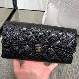 Brand New Chanel Gussett Classic Long Wallet