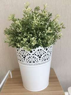 Ikea artificial potted plant +plant pot