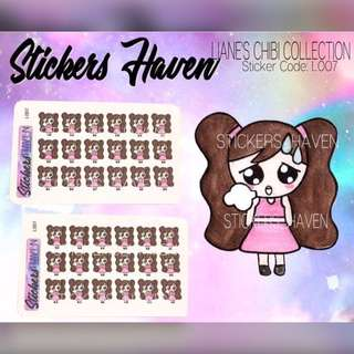 PLANNER STICKERS (Tired) Lianne - L007