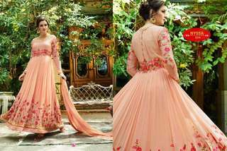 Georgette Embroidered Anarkali Salwar Kameez