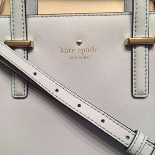 95% New 100% Real Kate Spade Baby Blue Crossbody 正品 兩用 斜袋 手挽