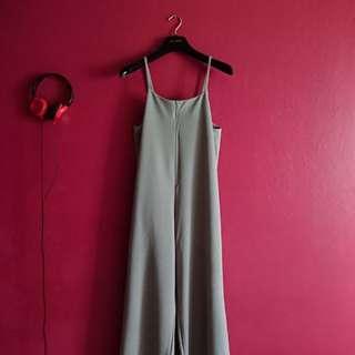 Grey Jumpsuit/Slip-on