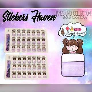 PLANNER STICKERS (Sweet Dreams) Lianne - L009