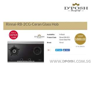 Rinnai-RB-2CG-Ceran Glass Hob