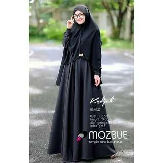 MF - 0318 - Dress Gamis Busana Muslim Wanita Kadijah Syari Plus Khimar