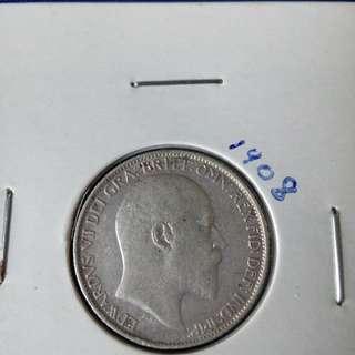 1908 GB sixpences