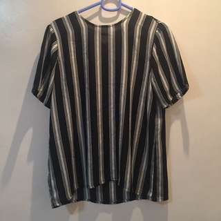 SM Woman Career Sheer Stripe Blouse
