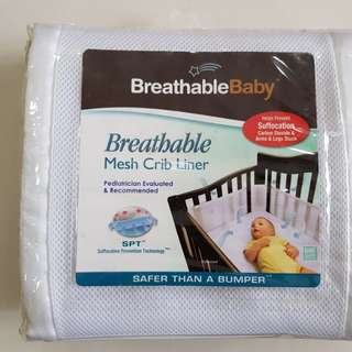 Brand New Unopened Breathable Baby Mesh Crib Liner