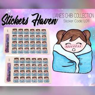 PLANNER STICKERS (Cold) Lianne - L011