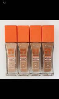 BN Rimmel Wake Me Up Liquid Foundations