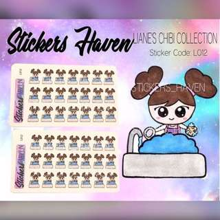 PLANNER STICKERS (Wash the dishes) Lianne - L012