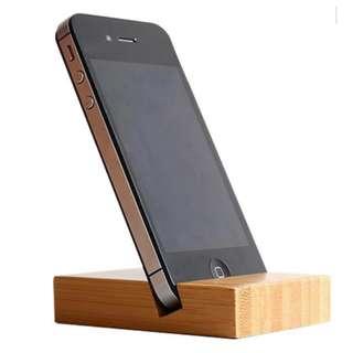 SHOPPY GEVALIA BAMBOO WOOD PHONE / TABLET DOCK