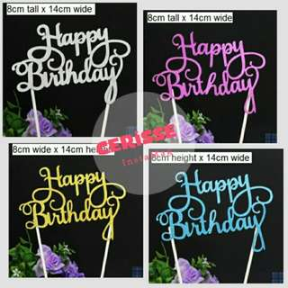 Cake toppers for birthday, wedding, parties etc