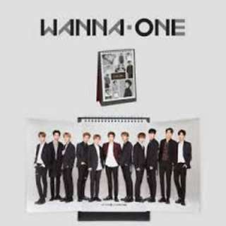 {READY STOCK} WANNA ONE – 2018 Desk Calendar