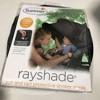 Summer Rayshade - sun and rain protective stroller shade (For strollers like gb pockit)