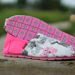 Sepatu wakai couple cat pink ibu dan anak