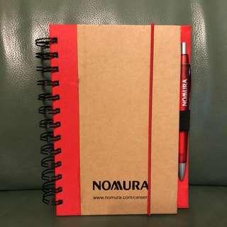 B5單行硬皮筆記簿連筆