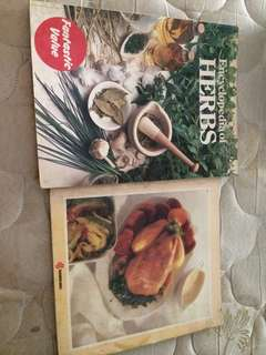 Lot of 2 Cookbooks : Encyclopedia of Herbs/Cooking with Herbs & Microwave Cooking