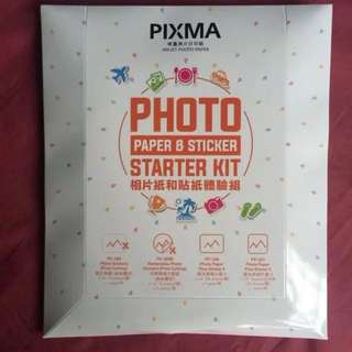 [Clearance] Canon Pixma Photo Paper & Sticker Starter Kit
