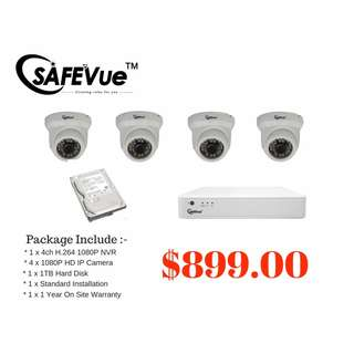 CCTV 4 x 1080P IP Cameras Package