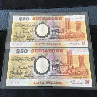 2run (927692-927693) Polymer $50 Note