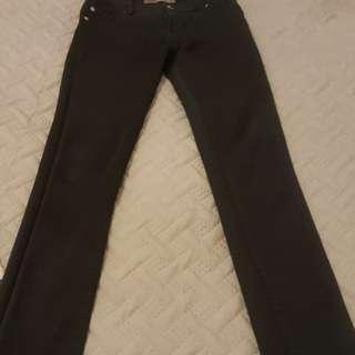 Just jeans black skinny leg size 8