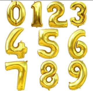 40 inch number gold Balloon foil