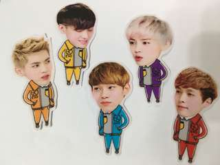 包郵 Exo貼紙