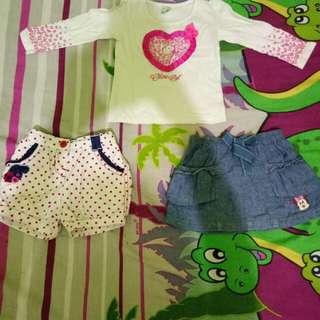 Paket Baju bayi perempuan 6-12 month