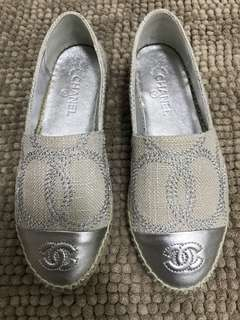 """Chanel"" silver espadrilles"