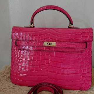 hermes kelly croc 32