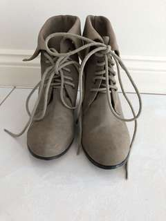 Forever new lace up boots