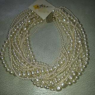 Vintage: Necklace Pearl Simulated (New)