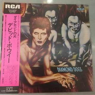 David Bowie – Diamond Dogs, Japan Press Vinyl LP, RCA – RCA-6230, 1974, with OBI