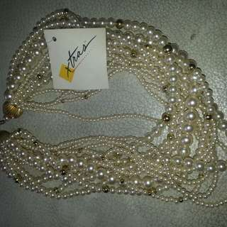 Vintage: Necklace Pearl Simulated