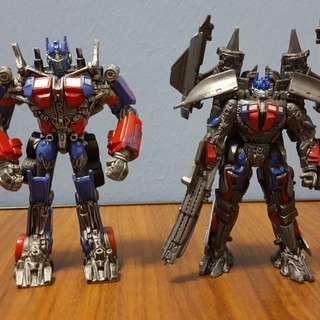 Transformers optimus prime & solar rotate display