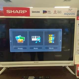 "SHARP 32"" LED cicilan mudah,aman dan cepat.proses 3 menit free 1X angsuran"