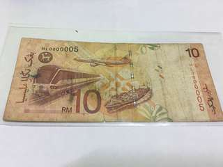 RM10 low number