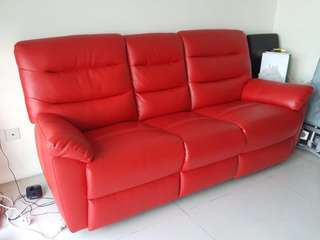 PU leather sofa less than 1 year